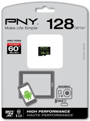 MicroSDXC 128GB PNY Class 10 UHS-I