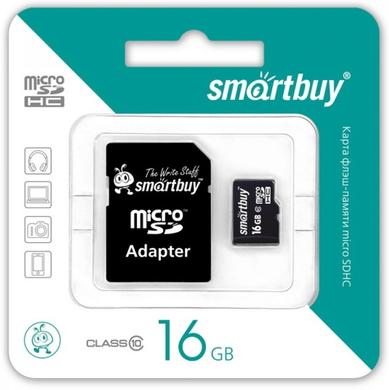 MicroSDHC 16GB SmartBuy Class 10