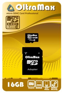 MicroSDHC 16GB Oltramax Class 10