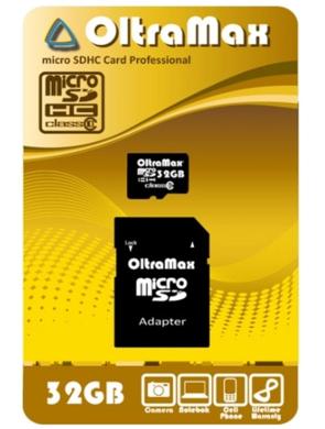 MicroSDHC 32GB Oltramax Class 10
